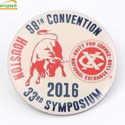 Ronda OEM Pin como para el don de latón de promoción de la moda de la Artesanía de metal personalizados Insignia Insignia de solapa