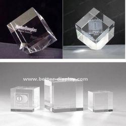 Vidro de cristal personalizado 3D bypass suporta formatos entre gravado a laser