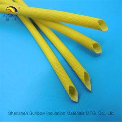 Trenzado de fibra de vidrio de silicona el cable eléctrico Insulaiton Sleevings