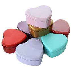 Le fer blanc fer les boîtes de bonbons cadeaux cas Tin conteneurs avec couvercle