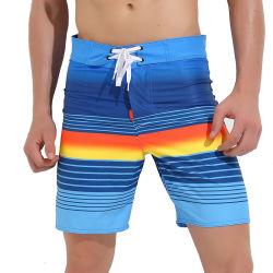 Vorstand schließt Strand-Kurzschlüsse der Sommer-hohe Taille gedruckten Männer kurz