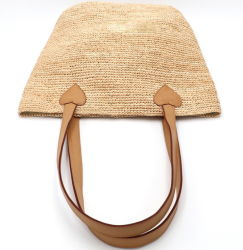 Novo Estilo Ins mulheres bag bolsa de ráfia Saco da caçamba de Palha
