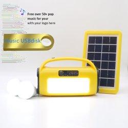 ホーム音楽プレーヤーの太陽エネルギーシステム太陽エネルギーのパネルの太陽エネルギーライトキット