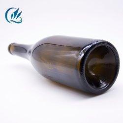 750 ml y botellas de vidrio de color verde claro vino la botella de cristal