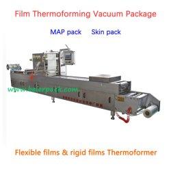 Vacío de termoformado y gas envasado de lavado/nitrógeno/Máquina de embalaje
