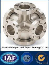 Fachmann kundenspezifische CNC-maschinell bearbeitendrehenkohlenstoffstahl-Edelstahl-Schmieden-Rohrfitting-Flansche