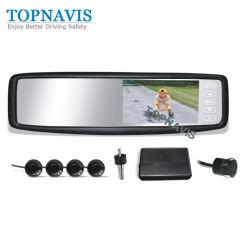 Sistema de Vídeo para Estacionamento com Monitor de espelho de 4.3 polegadas com suporte