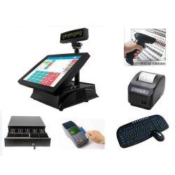 NFC 독자와 가진 1개의 POS 단말기에서 15 인치의 싼 모형 전부, 1 접촉 스크린 POS에서 전부