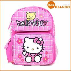 Розовый милый мешок школы для Backpack шаржа киски девушки здравствулте!