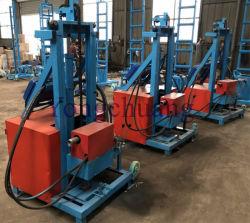 Diesel hidráulicas Tipo de plataforma de perforación de pozos de agua con bomba de agua, tubería de perforación y tres brocas
