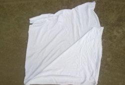 Kwaliteit 100% Katoenen Witte van de premie Vodden Bedsheet in de Concurrerende Kosten van de Fabriek