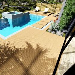 建築材料のプールの側面のDeckingのまわりの屋外のスリップ防止合成のデッキのカバー