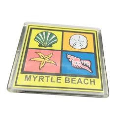De acryl Vierkante Magneten van de Koelkast van de Foto van de Magneet Plastic voor Herinnering