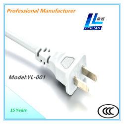 Электрический разъем шнура питания Yl-001 с 6A/10A 2-контактный КХЦ утвержденных