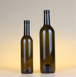 Factory Direct Vintage vente chaud chaud Haut swing round Bouteille de Vin de couleur ambre de pulvérisation / verre bouteille d'eau pour le commerce de gros