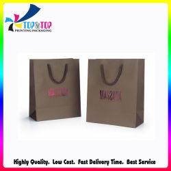 Impresión en color metálico Logotipo estampado en caliente Bolsa de compras de papel