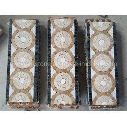 Padrão de mosaicos de mármore Tile Fronteira// a camisa para cozinha ladrilho painel contra salpicos