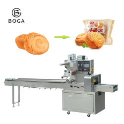Machine van de Verpakking van de Stroom van de Broodjes van de Cake van de Toost van het Brood van de Rang van het voedsel de Horizontale