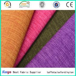 Revestido de PU de Jacquard de lino sofá de cuero de imitación de tejido con hilo catiónicos