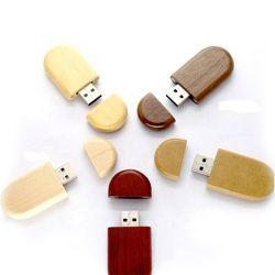 カスタマイズされたギフトの木製の物質的なメモリディスク4 8 32 128GB磁石USBのフラッシュ駆動機構