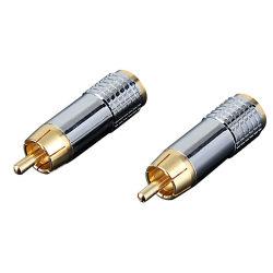 Adaptateur de fiche du câble du connecteur RCA audio hi-fi en cuivre DIY Le président