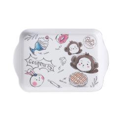 De Vrije Dienende Plaat van het Diner van de Jonge geitjes van de Melamine van het Ontwerp van het Beeldverhaal BPA Plastic