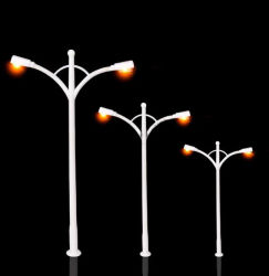 Le modèle des lumières de rue Modèle Modèle Modèle voitures des figures humaines et d'autres meubles de diverses matières de modèle architectural