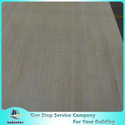 Ply 15mm Natural Edge Grain Bamboo Plank for Furniture / Worktop / Floor / Skateboard
