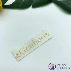 Design de moda colorida impressa personalizada etiqueta com a etiqueta principal volta a etiqueta do pescoço