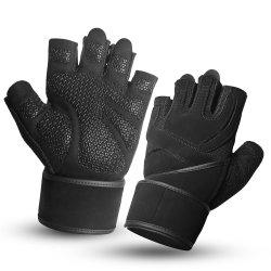 Kundenspezifische Gewicht-Anhebenhandschuh-Breathable Verpacken-Handschuh-Mann-Frauen-Sport-Eignung-Gymnastik-Trainings-Handgelenk-Verpackungs-Übungs-Gleitschutzhandschuhe