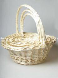 Belle écologique personnalisé le Saule blanc Panier de fruits et fleurs