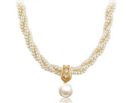 2016の新しい項目は宝石類のAkoyaの真珠のネックレスのAkoyaの真珠の宝石類に罰金を科す