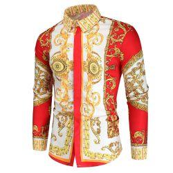 Royal de luxe hommes Casual slim fit partie de la PROM d'impression Shirt