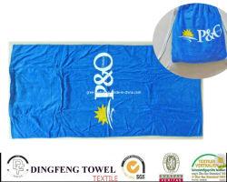 100% coton imprimé de velours de sac à dos Serviette de plage