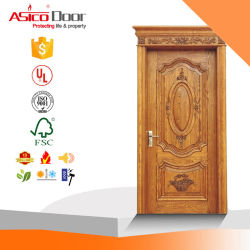 100% natural sólido de carpintaria e porta de madeira para o Médio Oriente Projectos