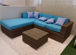 全天候用藤および枝編み細工品の家具の玄関ひさしの屋外の家具