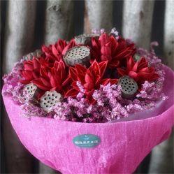 Fleur de Lotus séchées Bouquet de fleurs de l'artisanat pour l'hôtel Don de décoration et de Festival