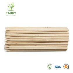 Bâtons de bambou robuste pour le Caramel Candy Apple de bâtonnets de chien de maïs Hotdog brochettes de saucisses Candy Lollipops Corn Sticks Conseils Semi-Pointed