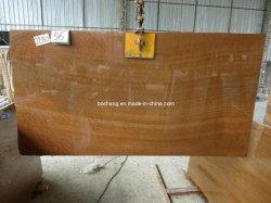 Marmo di legno di legno giallo naturale della vena per la lastra delle mattonelle della parete e della pavimentazione