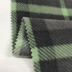 Poliéster completa personalizada de fábrica Single-Shaking face dupla tecido velo polar impresso para esportes Casual casacos
