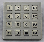 4X4 Metallic Keypad