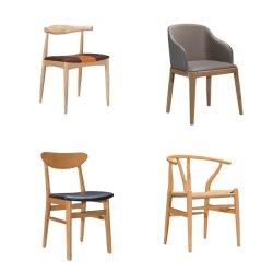 Le bois d'un fauteuil en cuir Restaurant décontracté du dossier des chaises en cuir