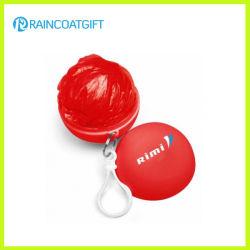 Plastic bal Rain Poncho met logo op maat (RVC-113A)
