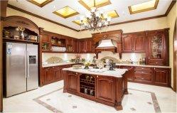A Norma americana de madeira de armário de cozinha móveis de madeira com vidro