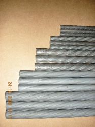 Costelas espiral salientou aliviada Alto Carbono fios HTS