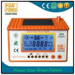 contrôleur solaire manuel de charge de 50A PWM avec le contre-jour bleu