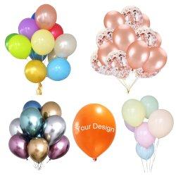 Groothandel Happy Birthday LED Reclame Decoratie Party Levering Kerst Print Helium Latex Globos Number Pump opblaasbare speelgoedfolie Hot Air Arch Rubber ballon