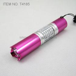 Metall LED Taschenlampe mit dekorativen Diamant (T4185)