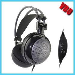 깊은 베이스 입체 음향 Deluxed Hi-Fi USB 헤드폰 (VB-2090D)