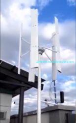 1kw dak die de Lage Beginnende Turbine van de Wind van de Snelheid Verticale met Hoge Efficiency opzetten